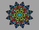 Dibujo Mandala estrella pintado por nomadogf97
