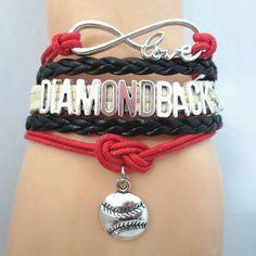 Infinity Love Arizona Diamondbacks baseball Bracelet BOGO