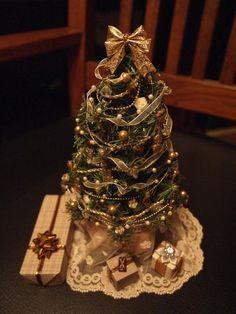 Lighted Dollhouse Christmas Tree by StudioOneTwelve on Etsy, $119.00