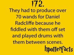 Harry Potter Facts Daniel Radcliffe
