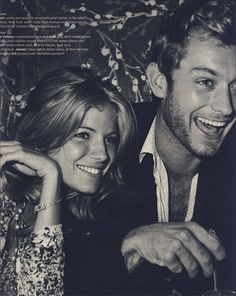 Sienna Miller and Jude Law. Such a hot couple.