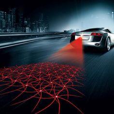 Cool Car Anti-Collision Rear Tail Laser Caution Light