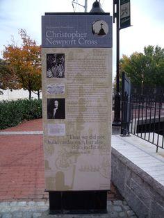 captain christopher newport | Christopher Newport Cross marker Public Art, Family History, Newport, Marker, Markers, Genealogy