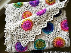 "Nana's Crochet Creations: Nana's ""Rainbow Hexagon Blanket"" - free crochet pattern by Des Maunz."