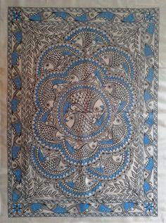 Madhubani Art, Madhubani Painting, Worli Painting, Fabric Painting, Kalamkari Painting, Indian Arts And Crafts, Design Art, Design Styles, Interior Design