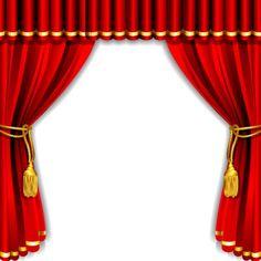 Theater courtain vector