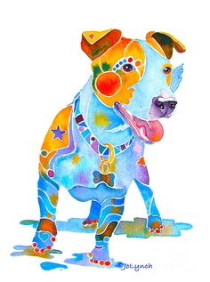 jack-russell-terrier-colorful-painting-jo-lynch.jpg (669×900)