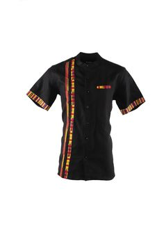 Slim Fit African Shirt for Men - Ankara Shirt- African Casual Shirt