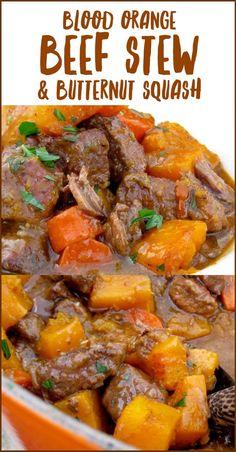 Blood Orange Beef Stew and Butternut Squash Recipe | CiaoFlorentina.com @CiaoFlorentina