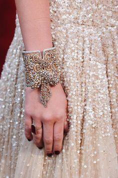 Lorraine Schwartz Diamond and Yellow Gold Cuff with a Pendant