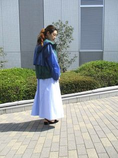 Ujoh ナイロンブルゾン シャツワンピース coordinate