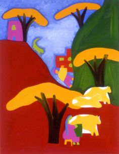 La Subida Por Semejante Loma, 1998. Oil on linen, 111 x 86 cm. Private collection. #painting #oilpainting #finearts #contemporaryart #cristinarodriguez Cristina Rodriguez, Flag, Painting, Country, My Love, Art, Colombia, Art Background, Rural Area