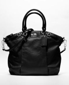 COACH MADISON LEATHER LINDSEY SATCHEL - All Handbags - Handbags & Accessories - Macy's