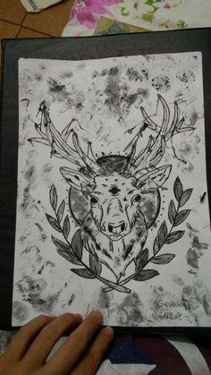Moose, Alce. By: Giovanna Caroline