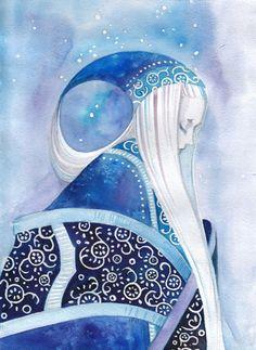 Fairies - watercolor by ©ner-tamin (via deviantART)