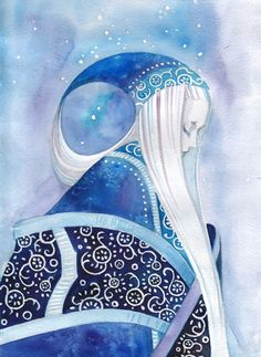 blue mood. La Reine des Neiges ? Skadi ?