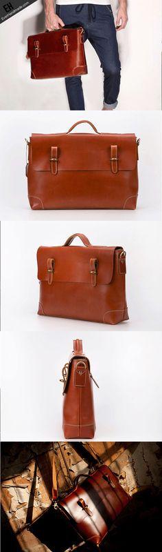Copy of Handmade leather men Briefcase messenger vintage