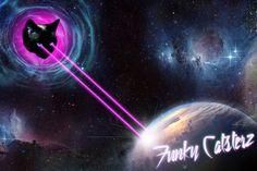 The Wrath Of Kitty Khan - Space Cat Art Print 8x10