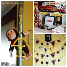 curious george fireman birthday party