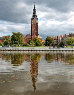 Tower of Cathedral of St. Nicolas in Elblag. Beautiful Sites, The Beautiful Country, Beautiful Places, Poland Germany, Danzig, Russian Federation, Central Europe, Beautiful Buildings, Best Cities