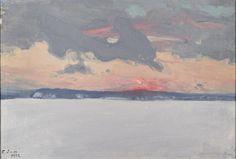 Eero Järnefelt, Talvimaisema (Winter landscape) on ArtStack Paintings I Love, Winter Landscape, Canvas, Drawings, Artist, Prints, Inspiration, Design, Beauty