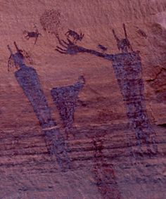 Photographs of the rock art of the Anasazi of the Four Corners Region of the United States: Utah, New Mexico, Arizona and Colorado. Ancient Mysteries, Ancient Artifacts, Native Art, Native American Art, Ancient Aliens, Ancient History, Paleolithic Art, Cave Drawings, Aboriginal Art