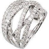 14kt white gold, diamond lattice style ring