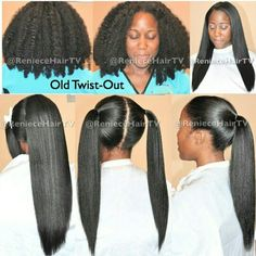 Don't let the #shrinkage fool you! #Naturalhair #longhair #blowout #flatiron #twistout #twist #teamnatural #teamnatural_