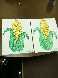 Easy fall kids corn craft.