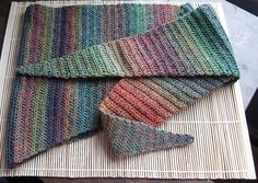 Crochet baktus scarf ~ free pattern from Jude Butterworth ~ is done using single double crochet (us term) Crochet Socks Pattern, Crochet Mittens, Crochet Poncho, Crochet Scarves, Crochet Triangle Scarf, Crochet Shawls And Wraps, Crochet Accessories, Inspiration, Crocheting