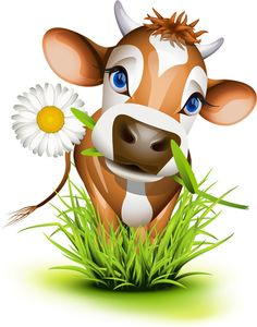 Buy Jersey Cow in Grass by tilo on GraphicRiver. Jersey cow in green grass. Cow Clipart, Cow Logo, Cow Illustration, Cow Drawing, Cartoon Cow, Cow Pictures, Cow Head, Baby Cows, Baby Elephants