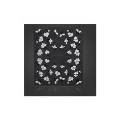 3D Black White Flower Nail Art Sticker Water Transfer Decals ($2.42) ❤ liked on Polyvore featuring beauty products, nail care, nail treatments and white