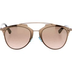 Pre-owned Christian Dior Metallic Reflected Sunglasses (4 295 SEK) ❤ liked on Polyvore featuring accessories, eyewear, sunglasses, metallic, christian dior eyewear, christian dior glasses, metallic glasses, christian dior and metallic sunglasses
