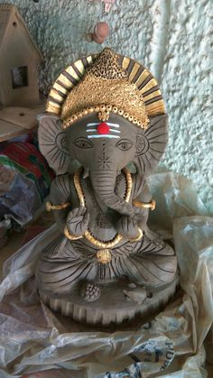 Eco Ganesha made on order for a South Indian Family