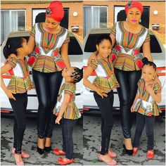 Top 35 2018 African Ankara fashion designs for mother and daughter African Dresses For Women, African Attire, African Wear, African Fashion Dresses, African Women, Ankara Fashion, African Outfits, African Print Fashion, Africa Fashion