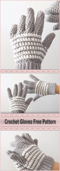 Crochet Gloves Free Pattern! Those are very fancy winter gloves which now can be made by you! Can't decide how to warm yourself in this winter cold? Crochet this warm gloves and warm up yourself with your crochet creation. Good tutorial, every step making of this crochet project is explained.