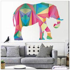 Adesivo de Parede Elefante Geometrico