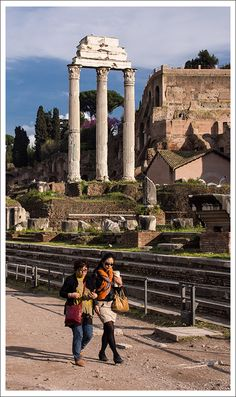 At the Forum, Rome, Italy