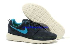best service d4fea 3a9b5 Cheap Nike Roshe Run Premium Men s Shoe Anthracite Grey-Blue Glow-Sail White