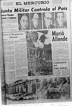 El Mercurio (Chile) - 12 de septiembre de 1973. Latin America, South America, Victor Jara, Military Dictatorship, Newspaper Headlines, Equador, Pablo Neruda, Cold War, Medusa