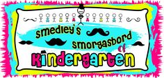 Smedley's Smorgasboard of Kindergarten freebies. I'm very grateful for teachers who give out freebies. #Kindergarten #Freebies