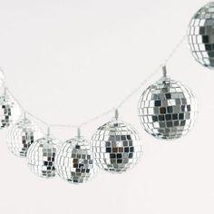 These disco lights will take you back and create the perfect party atmosphere. Each strand consists of 10 disco ball lights. These are for indoor use only and require 3 x AA batteries which are not included.Size - Approximately feet Cowgirl Bachelorette Parties, Cowgirl Party, Bachelorette Ideas, Great Gatsby Party, 1970s Party Theme, Disco Theme Parties, 80s Theme, Club Parties, Disco Birthday Party
