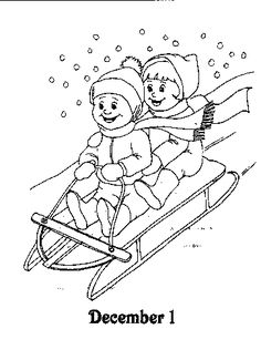 coloring page Advent Kids-n-Fun