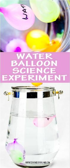 WOW! Water Balloon Science Project for Kids to explore what floats in a completely new, fun, and engaging way that kids will love!! REALLY cool science experiment for kindergarten, first grade, 2nd grade, 3rd grade, 4th grade, 5th grade, and 6th grade students for science fair proejcts or homeschool
