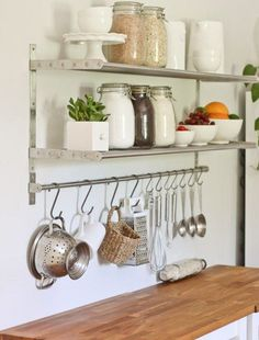 10 Space Saving Hacks for Your Tiny Kitchen is part of Ugly kitchen - wood Box Shelves Ikea Hacks 10 Space Saving Hacks for Your Tiny Kitchen Ugly Kitchen, New Kitchen, Kitchen Decor, Kitchen Ideas, Kitchen Small, Kitchen Sink, Kitchen Utensils, Space Kitchen, Kitchen Wood