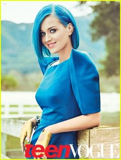Katy Perry de Zac Posen | Teen Vogue May 2012