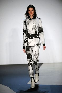 All over prints are going nowhere this #aw13 for suiting, seen here at @Helmut Lang #nyfw