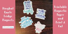Dingbat Quote Fridge Magnets