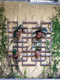 trellis w/potted plants