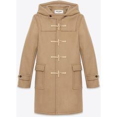Saint Laurent Classic Duffle Coat ($3,115) ❤ liked on Polyvore featuring men's fashion, men's clothing, men's outerwear, men's coats, men, mens hooded toggle coat, mens duffle coat, mens coats and mens toggle duffle coat